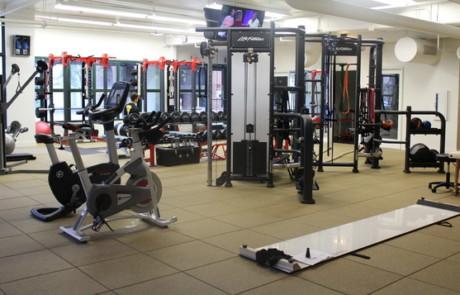 fitness center rubber flooring