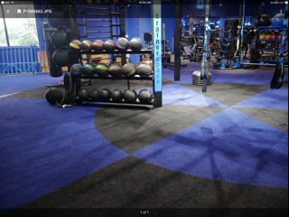 Flooring for training room 2