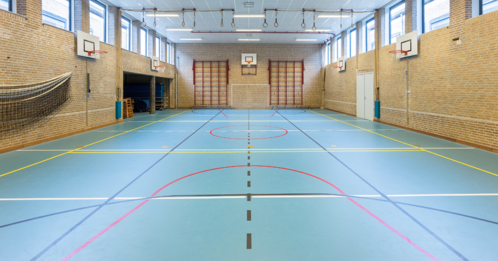 high school sports flooring